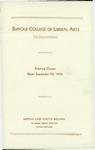 Suffolk University Academic Catalog, Suffolk College of Liberal Arts-evening, 1934