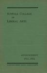 Suffolk University Academic Catalog, Suffolk College of Liberal Arts, 1935-1936