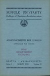 Suffolk University Academic Catalog, College of Business Administration, 1937-1938