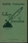 Suffolk University Academic Catalog and Announcements, College of Journalism, 1937-1938