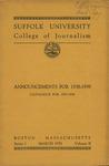 Suffolk University Academic Catalog, College of Journalism, 1937-1939