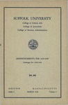 Suffolk University Academic Catalog and Announcements, College of Liberal Arts, College of Journalism, and College of Business Administration, 1938-1939