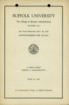 Suffolk University Academic Catalog, College of Business Administration, 1944-1945