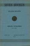 Suffolk University Academic Catalog, College Departments, 1949-1950