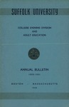 Suffolk University Academic Catalog, College Departments-Evening Division and Adult Education, 1950-1951