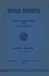 Suffolk University Academic Catalog, College Departments-Evening Division and Adult Education, 1952-1953