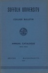 Suffolk University Academic Catalog, College Departments, 1953-1954