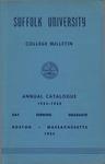 Suffolk University Academic Catalog, College Departments, 1954-1955