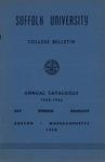 Suffolk University Academic Catalog, College Departments, 1955-1956