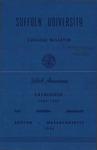 Suffolk University Academic Catalog, College Departments, 1956-1957