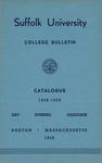 Suffolk University Academic Catalog, College Departments, 1958-1959