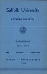 Suffolk University Academic Catalog, College Departments, 1959-1960