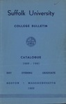 Suffolk University Academic Catalog, College Departments, 1960-1961