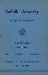 Suffolk University Academic Catalog, College Departments, 1961-1962