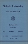 Suffolk University Academic Catalog, College Departments, 1962-1963