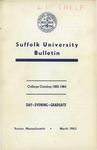 Suffolk University Academic Catalog, College Departments, 1963-1964