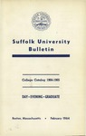 Suffolk University Academic Catalog, College Departments, 1964-1965
