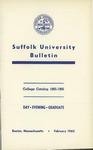 Suffolk University Academic Catalog, College Departments, 1965-1966