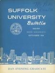 Suffolk University Academic Catalog, College Departments, 1968-1969