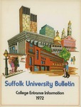 Suffolk University Academic Catalog, College Departments--entrance bulletin, 1972