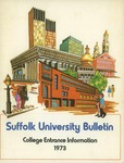 Suffolk University Academic Catalog, College Departments--entrance bulletin, 1973