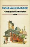 Suffolk University Academic Catalog, College Departments--entrance bulletin, 1974