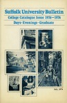 Suffolk University Academic Catalog, College Departments, 1974-1976