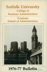 Suffolk University Academic Catalog, College of Business Administration--Graduate School of Administration, 1976-1977