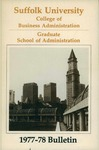 Suffolk University Academic Catalog, College of Business Administration--Graduate School of Administration, 1977-1979