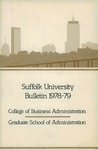 Suffolk University Academic Catalog, College of Business Administration--Graduate School of Administration, 1978-1979