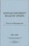 Suffolk University Academic Catalog, School of Management--supplement, 1981-1982