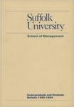 Suffolk University Academic Catalog, School of Management, 1982-1984