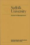 Suffolk University Academic Catalog, School of Management, 1983-1985