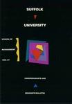 Suffolk University Academic Catalog, School of Management, 1986-1987