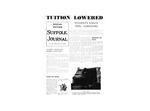 Newspaper- Suffolk Journal Special Edition, 1962