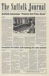 Newspaper- Suffolk Journal Vol. 64, No. 10, 11/12/2003