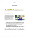 Sawyer Connect: A Message from the New Dean