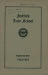 Suffolk University Law School Catalog, 1923-1924