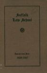 Suffolk University Law School Catalog, 1926-1927