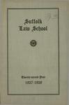 Suffolk University Law School Catalog, 1927-1928
