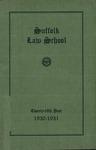Suffolk University Law School Catalog, 1930-1931