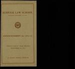 Suffolk University Law School Catalog, 1931-1932