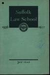 Suffolk University Law School Catalog, 1936-1937