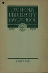 Suffolk University Law School Catalog, 1937-1938