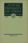Suffolk University Law School Catalog, 1938-1939