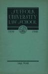 Suffolk University Law School Catalog (includes 1940-1941 annoucements), 1939-1940