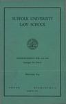 Suffolk University Law School Catalog, 1940-1941