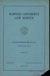 Suffolk University Law School Course Bulletin, 1943