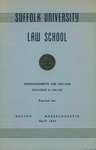 Suffolk University Law School Catalog, 1946-1947