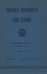Suffolk University Law School Catalog, 1950-1951